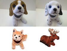 Bobbing Head Animal Car Dash New Toy Bobbing head Dog Moose ( 4pcs set )