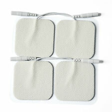 "2""x2"" 4PC Replacement Pigtail Electrode Pads 4 Digital Massager/Tens Unit"