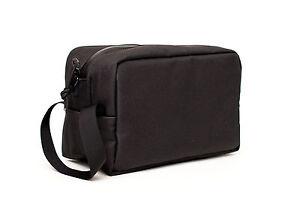 ABSCENT Smell Proof Toiletry Bag Odor Proof Odorless Stash Bag Carbon Bag- Black