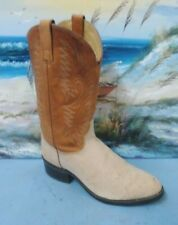 Imperial Men's Leather  Western Boot Beige/ Brown  9 D STYLE M649