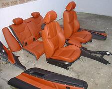 Inkl UMBAU BMW E92 M3 Coupe Lederausstattung Leder Sportsitze fuchsrot rot Sitze