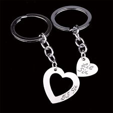 2 PIECE SISTER KEYCHAIN SET CHARM PENDANT BIG SIS LITTLE SIS KEY RING #KC56