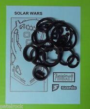 1986 Sonic Solar Wars pinball rubber ring kit
