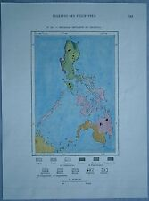1889 Perron map MAIN ETHNIC GROUPS OF PHILIPPINES (#111)