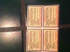 WURLITZER JUKEBOX  1015 1100 ect. 4 COIN GRINDER DECALS