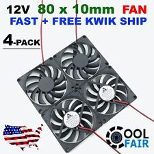 Mechatronics F8025S12B Brushless Tubeaxial Fan 12 Volt DC 80 mm W x 80 mm H x 25 mm D