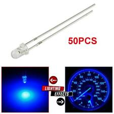 50Pcs Blue 3mm LED Lamp Mini Instrument Panel Lights Bulbs Set For Toyota