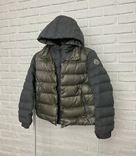 AUTHENTIC Kids MONCLER Down Jacket Puffer Gray Hooded Size 8Y 128cm