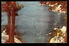 1941 Big Bear Lake southern California 76 Union Oil advertising postcard