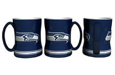Seattle Seahawks Coffee Mug - 14oz Sculpted [NEW] Tea Warm Microwave Cup CDG