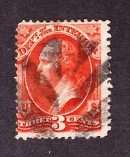 US O17 3c Interior Department Used w/ Leaf Cancel