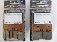 ZCOO 2 COPPIE PASTIGLIE FRENO ANTERIORE EX PER HONDA  CBR RR - ABS 600 2012