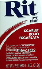 Rit Fabric Dye / Tint  Powder - SCARLET - 1 1/8 oz Crafts, Basketry, Feathers