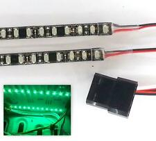 LED Verde Modding PC Funda Luz (Doble 20CM Tiras) Molex 40CM Colas Doble