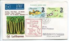 FFC 1970 Lufthansa PRIMO VOLO LH 591 - Mauritius Dar El Salaam Cairo Francoforte