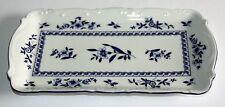 Mitterteich BAVIERA Pequeños Bandeja con azules flores, azul borde