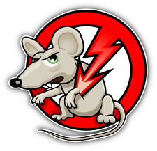 "No Rats Ban Stop Sign Car Bumper Sticker Decal 5"" x 5"""