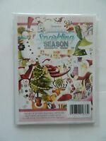 "HUNKYDORY ""THE LITTLE BOOK OF SPARKLING SEASON""  SET OF 24 - A5  CARD TOPPERS"
