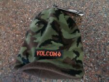 Volcom Under Shade Green Camo Beanie w Visor Brim NWT Hat One-size