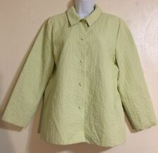 Pre-Owned Eileen Fisher Green Button Down Jacket Medium
