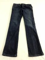 VOLCOM JUNIORS DARK WASH BLUE DENIM STRAIGHT LEG JEANS SIZE 30