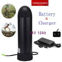 24V 10Ah Bottle Lithium Fits Scooter E-Bike Electric Bicycle Battery +US Charger