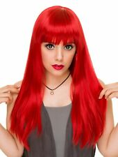 Rockstar Cosplay Red  Pin-up Long Straight Costume Wig Women's Retro Stylable