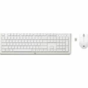 HP Wireless Keyboard Mouse Set White C2710 Combo Standard EU US International