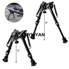"Adjustable 6"" to 9"" Spring Return Sniper Bipod&Sling Swivel 4 Rifle gun Hunting"