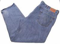 LEVI'S Mens Jeans W46 L32 Blue Cotton Straight 550 AN03