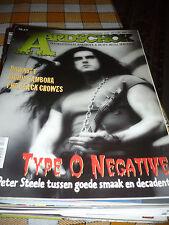 AARDSCHOK MAGAZINE 08/96 Type O Sambora Downset Black Crowes vintage memorabilia