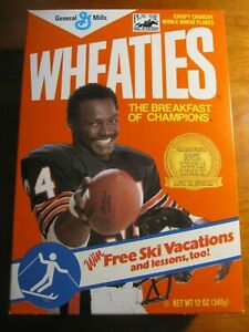NEW Full  Wheaties Box Walter Payton Chicago Bears 2 *rp*