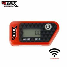 4MX Red Wireless Motorcycle Engine Vibration Hour Meter to fit Husqvarna 510