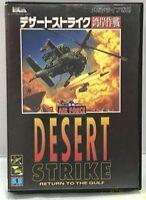 Japan limited SEGA Mega Drive Desert Strike Boxed up to US shortest Next Day
