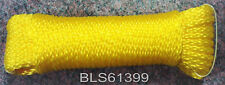 "Yellow Hollow Braided 1/4"" in x 100' ft Boat Marine Utility Line Tie-Down Rope"