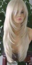 CHSW29 beautiful long straight blonde cosplay fashion hair wigs for women wig