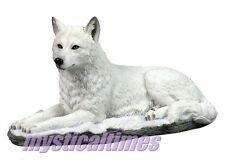 NEW * WHITE SHADOW * WOLF NEMESIS STATUE FIGURINE ORNAMENT WITH FREE POST G0750