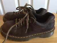 Dr. Martens Brown Leather Women's Shoes Size 6 Made In England Original Docs
