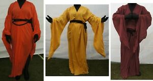 Medieval Occult Sheer Ritual Robe Halloween Witch Larp pagan Martial Arts Monk