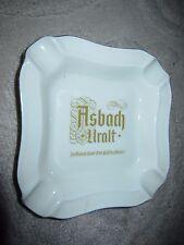 "Vintage Heinrich Germany ashtray, Asbach Uralt advertising ""the spirit of wine"""