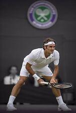Roger Federer 30x20 Inch Canvas - Wimbledon Tennis Framed Picture Art Print