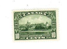 1935 Canada Windsor Castle 10c stamp green MNH