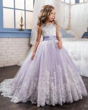 Flower Girl Dress Wedding Bridesmaid Formal Graduation Birthday Princess NEW