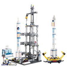 822pcs Space Rocket Station Building Blocks Action Figure Toys Gift For Children