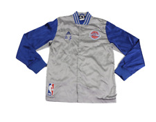 Adidas NBA Authentics Detroit Pistons DJ Augustine Game Worn Jacket Large Silver