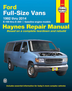 Ford full-size E-150-E-350 petrol vans (1992-2014) Haynes Repair Manual (USA)