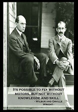 -A3- Wilbur And Orville Wright INSPIRATIONAL MOTIVATIONAL QUOTE POSTER #33