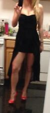 Victoria's Secret Vintage Old School ABS High Low Little Black Dress Small