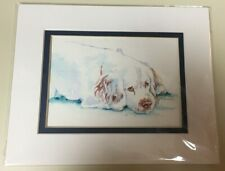 Clumber Spaniel Watercolor by Bj Lewis