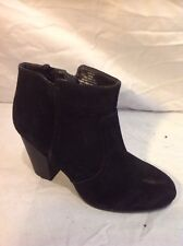 H&M Black Ankle Suede Boots Size 39